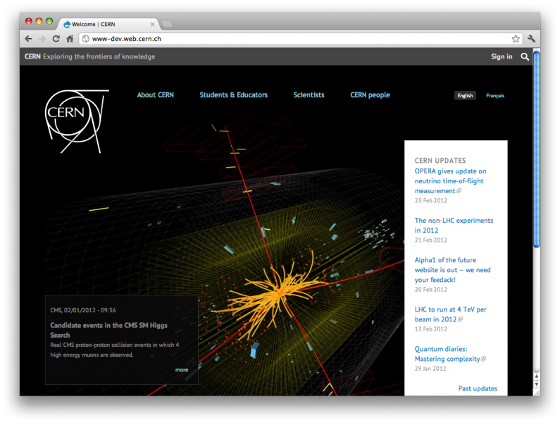 CERN Alpha Screenshot