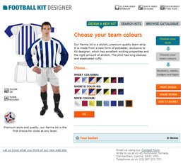Rugby Kit Designer screen showing the Designer application