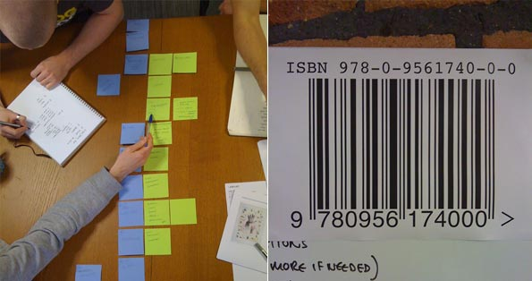 getting to grips with the process, and our first ISBN number