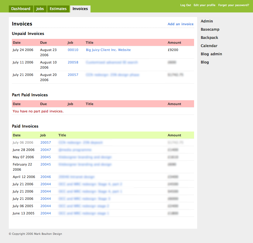 sorting my workflow out, part two | journal | the personal, Invoice templates