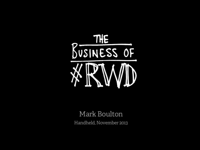 Opening slide for talk on the Business of Web Design