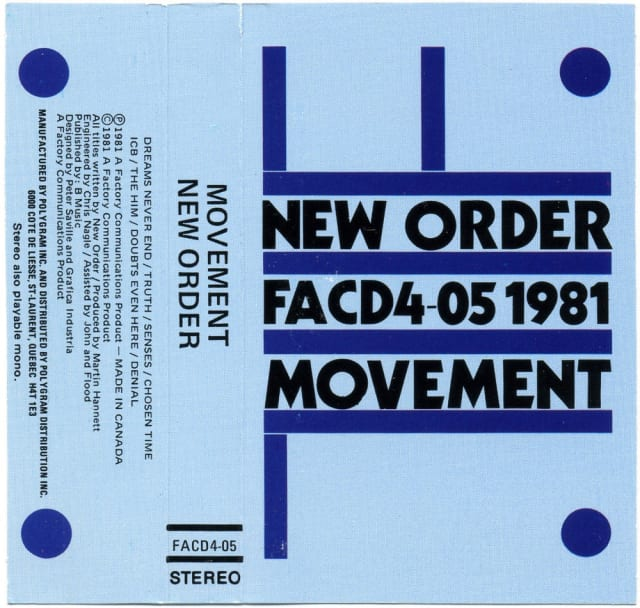 Graphic design from Factory Records
